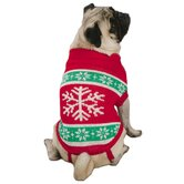Yuletide Snowflake Dog Sweater