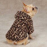 Animal Print Cuddler Dog Sweater