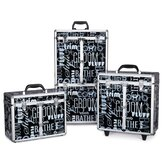 Grooming Tool Case with Wheels in Graffiti Black