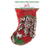 Santa's Super Stocking Dog Toy (10 Pack)