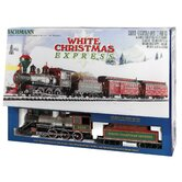 "Large ""G"" Scale White Christmas Train Set"