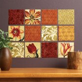 Tulip Medley Vinyl Wall Decals in Brown