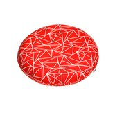 Inflated Dog Bed in Bright Red