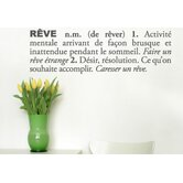Blabla R&ecirc;ve (French) Wall Decal