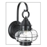 Cottage Onion One Light Outdoor Small Wall Lantern in Black