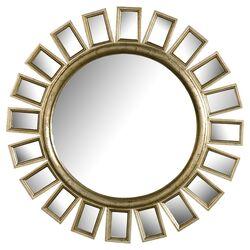 Cyrus Sunburst Wall Mirror In Distressed Silver