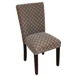 Classic Parsons Chair in Blue & Chocolate