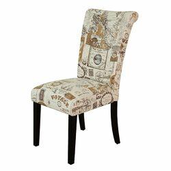 Voyage Parsons Chair in Brown & Beige (Set of 2)