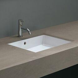 Shallow Undermount Sink : ... Ceramica Valdama Cubo Undermount Bathroom Sink - Cubo New 50