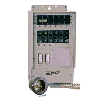 Reliance Controls Pro / Tran Q Series Transfer Switch for Generator with 6 Circuit Breaker