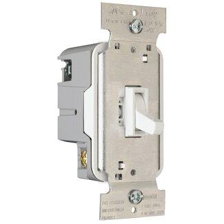 Legrand TradeMaster Electronic Single Pole/Three Way Preset Toggle Dimmer in Light Almond