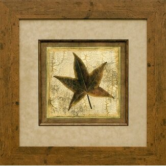 Phoenix Galleries Rustic Leaves 2 (Star) Framed Print