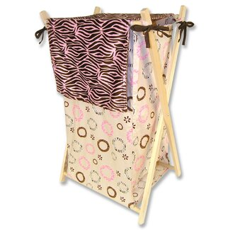 Trend Lab Sweet Safari Pink Hamper Set With Frame