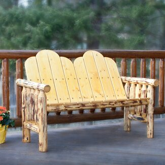 Montana Woodworks® Glacier Country Deck Wood Garden Bench