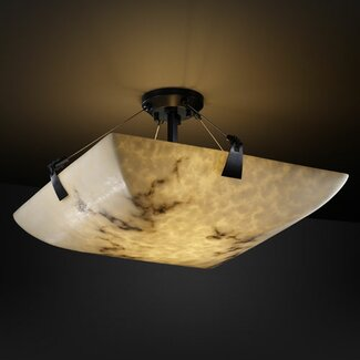 Justice Design Group LumenAria Tapered Clips 3 Light Semi Flush Mount