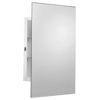 Zenith Products Arched Beveled Swing Door Medicine Cabinet