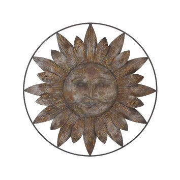 Woodland Imports Metal Sun Wall Decor | Wayfair