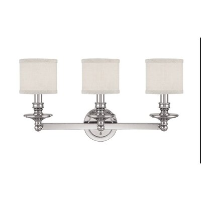 Capital Lighting Midtown Three Light Bath Vanity in Polished Nickel