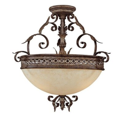 Capital Lighting Grandview 12 Light Semi Flush Mount