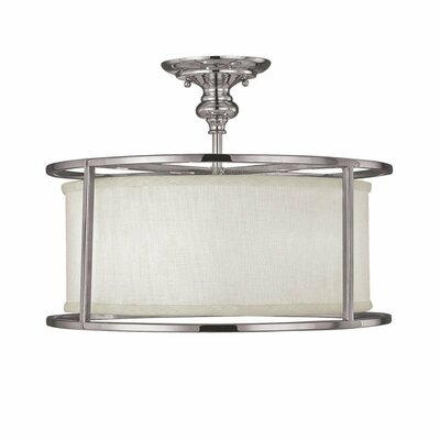 Loft 3 Light Semi Flush Mount