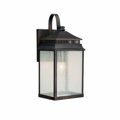 Capital Lighting Sutter Creek One Light Outdoor Wall Lantern in Old Bronze