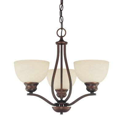 Stanton 3 Light Chandelier with Mist Scavo Glass Shade