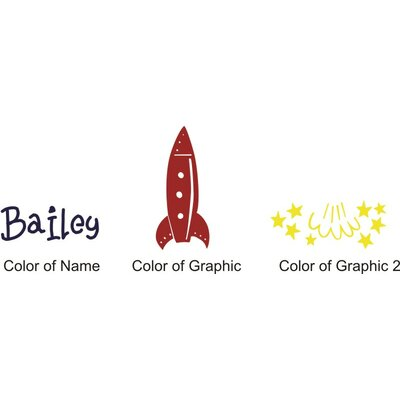 Alphabet Garden Designs Bailey's Rocket Wall Decal