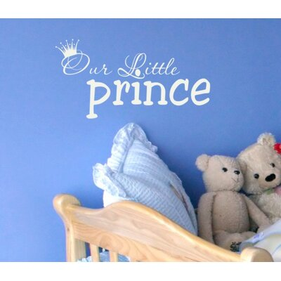 Alphabet Garden Designs Our Little Prince Wall Decal