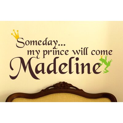 Alphabet Garden Designs Someday My Prince Will Come Wall Decal
