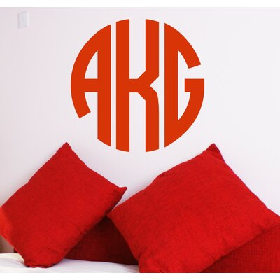 Alphabet Garden Designs Circle Monogram Wall Decal