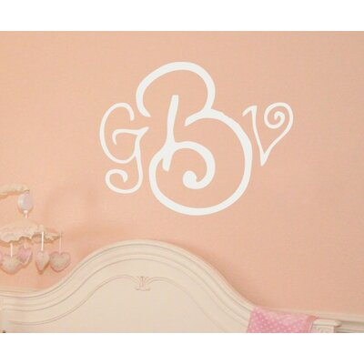 Alphabet Garden Designs Curly Whirly Monogram Wall Decal