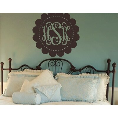 Alphabet Garden Designs Scalloped Fancy Monogram Wall Decal