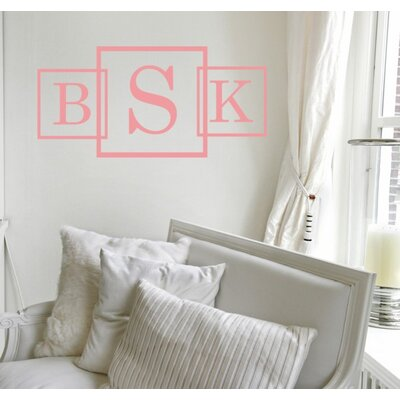 Alphabet Garden Designs Three Square Monogram Wall Decal