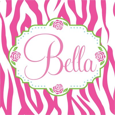 Alphabet Garden Designs Bella Rose Canvas Wall Art