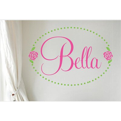 Alphabet Garden Designs Bella Rose Personalized Vinyl Wall Decal
