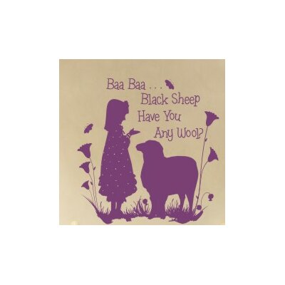 Alphabet Garden Designs Baa Baa Black Sheep - Girl Wall Decal