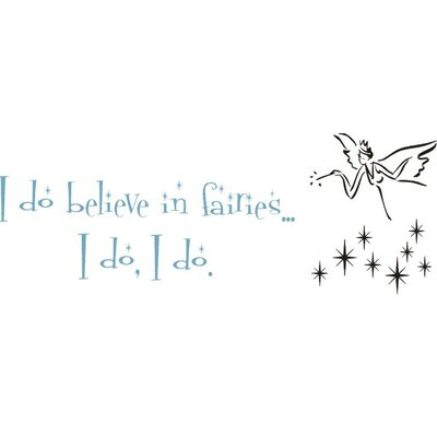 Alphabet Garden Designs Believe in Fairies Wall Decal