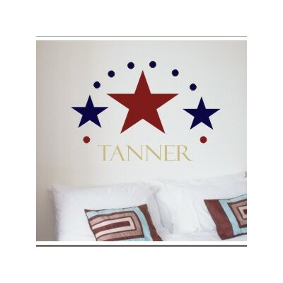 Alphabet Garden Designs Three Stars Wall Decal