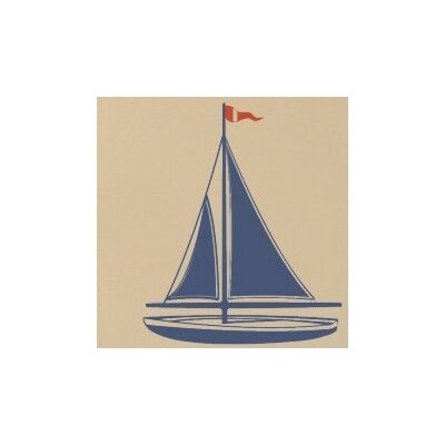 Alphabet Garden Designs Sailboat Wall Decal