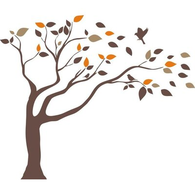 Windblown tree vinyl wall decal wayfair for Alphabet garden designs