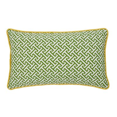 Jiti Pillows Maze Poly Pillow in Green/Yellow