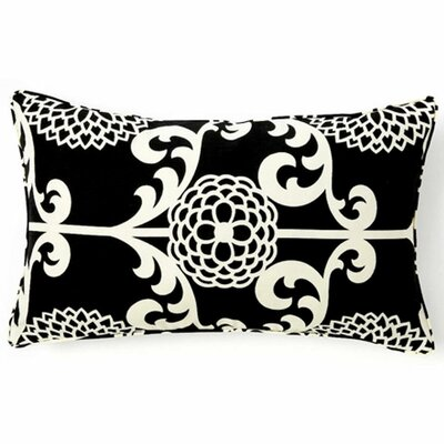 Jiti Pillows Floret Cotton Pillow in Black
