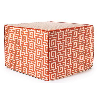 Jiti Puzzle Outdoor Ottoman in Orange