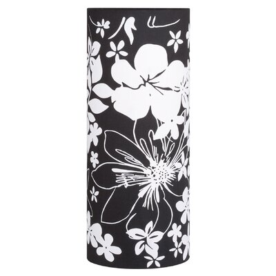 Paulmann Lighting Living 2Easy Interchangeable Lamp Shade with Flower Pattern in Black