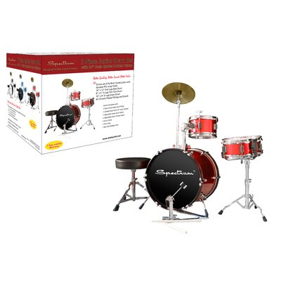 Ashley Entertainment Corporation Spectrum AIL 661R Rockstar Red Three Piece Junior Drum Kit
