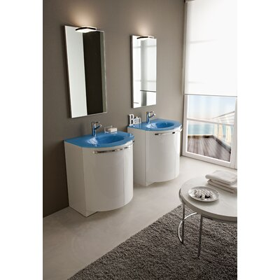 "Acquaviva Archeda II 27.5"" Single Curved Bathroom Vanity"