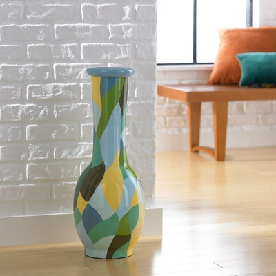 PoliVaz Small Patchwork Round Decorative Vase