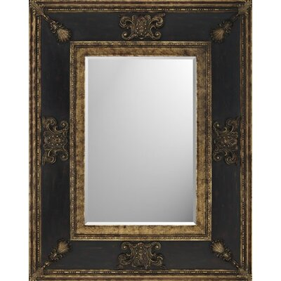 Rectangle Gold and Wood Finish Monarch Mirror
