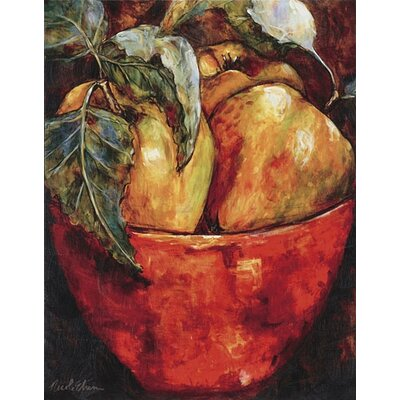 Paragon Apples in Red Bowl Canvas Art - Etienne