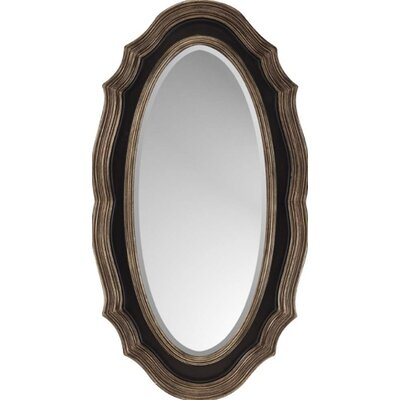 Dark Brown / Gold Oval Traditional Wall Mirror
